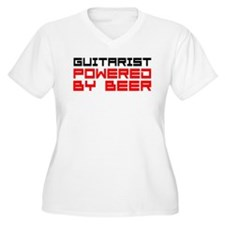 Guitarist Powered Beer Plus Size T-Shirt