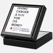 Give Cancer a Run for Its Money Keepsake Box