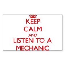 Keep Calm and Listen to a Mechanic Decal