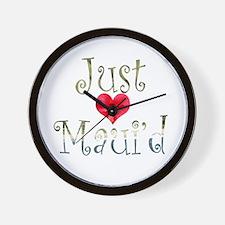 Just Maui'd Hibiscus Heart Wall Clock