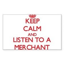 Keep Calm and Listen to a Merchant Decal