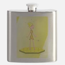 Beehive Cute Girl Flask