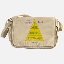 New Orleans Food Pyramid Messenger Bag