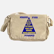 Nebraska Food Pyramid Messenger Bag