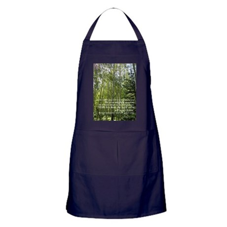 Gods Cathedral (Aspens and Verse) Apron (dark)