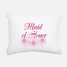 Pink Maid of Honor Rectangular Canvas Pillow