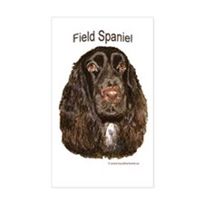 Field Spaniel liver Rectangle Decal