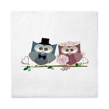 Wedding Owls Art Queen Duvet
