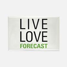 Live Love Forecast Rectangle Magnet