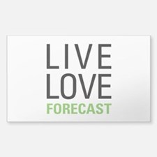 Live Love Forecast Decal