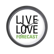 Live Love Forecast Wall Clock