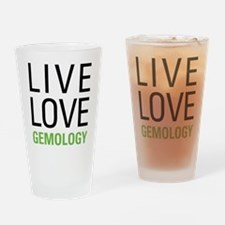 Live Love Gemology Drinking Glass