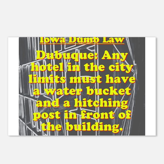 Iowa Dumb Law #5 Postcards (Package of 8)