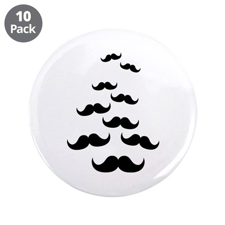 """Flying Mustaches 3.5"""" Button (10 pack)"""