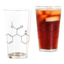 Methylphenidate Molecule Drinking Glass