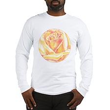 peach rose blossom Long Sleeve T-Shirt
