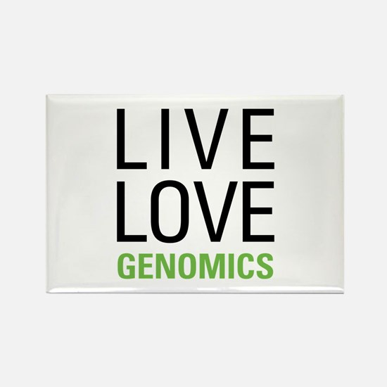 Live Love Genomics Rectangle Magnet