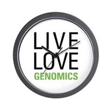 Live Love Genomics Wall Clock