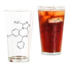 Alprazolam Molecule Drinking Glass