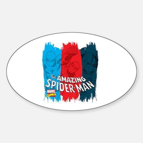 Spiderman Brush Sticker (Oval)