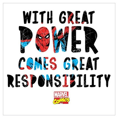 Spiderman: With Great Power Wall Art Poster
