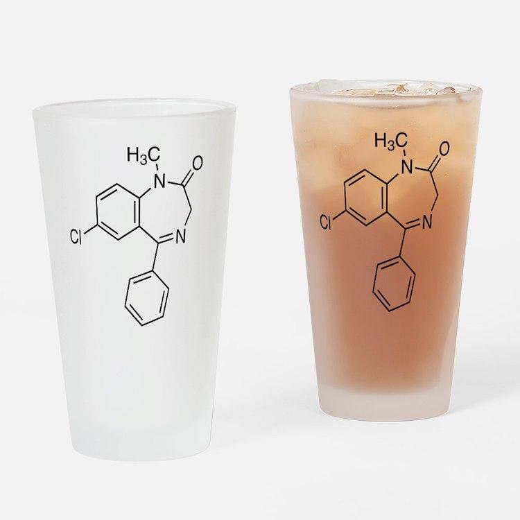 Diazepam Molecule Drinking Glass