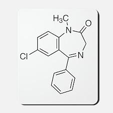 Diazepam Molecule Mousepad