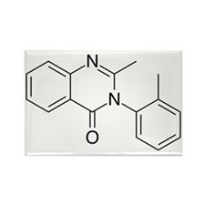 Methaqualone Rectangle Magnet
