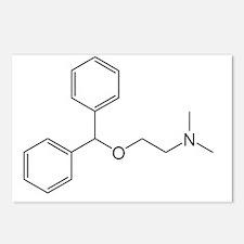 Diphenhydramine Molecule Postcards (Package of 8)
