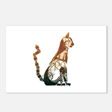 Steampunk Bronze Cat Postcards (Package of 8)
