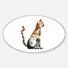 Steampunk Bronze Cat Decal