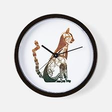 Steampunk Bronze Cat Wall Clock