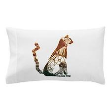 Steampunk Bronze Cat Pillow Case