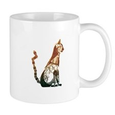 Steampunk Bronze Cat Mugs