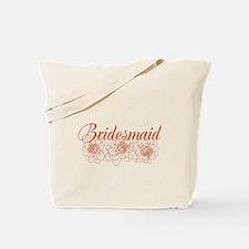 Orange Bridesmaid Tote Bag