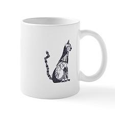 Silver steampunk cat Mugs