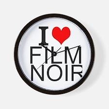 I Love Film Noir Wall Clock