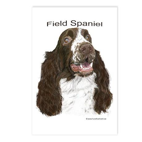 Field Spaniel roan Postcards (Package of 8)