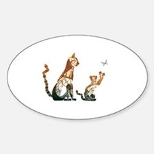 Steampunk Bronze Cats Decal