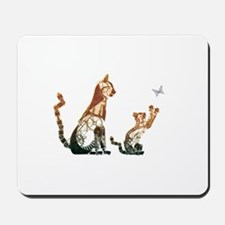 Steampunk Bronze Cats Mousepad