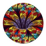 Stained glass Round Car Magnets