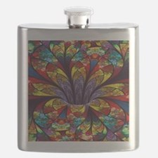 Fractal Stained Glass Bloom Flask