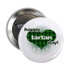 """Tartan Day Heart and Thistles 2.25"""" Button (100 pa"""