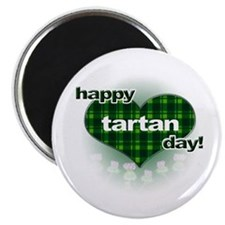 Tartan Day Heart and Thistles Magnets