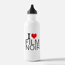 I Love Film Noir Water Bottle