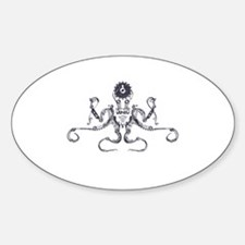Steampunk Silver Octopus Decal