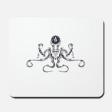 Steampunk Silver Octopus Mousepad
