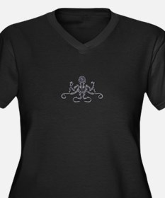 Steampunk Silver Octopus Plus Size T-Shirt