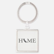 California Home Square Keychain
