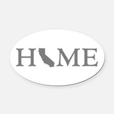 California Home Oval Car Magnet